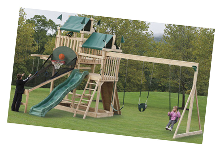 Playground  sc 1 st  Rockland Woodworks & Sheds Storage Buildings Carroll County MD Wood Swingsets Vinyl ...
