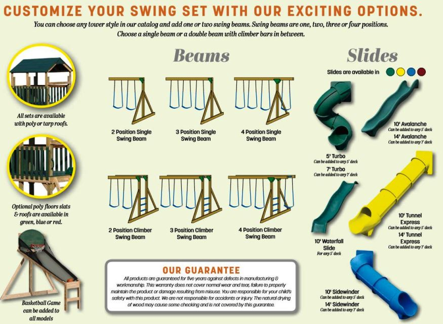 wood swingset accessories baltimore md