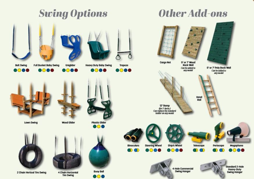 wood swingset accessories baltimore maryland