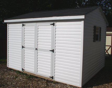 Vinyl siding shed doors
